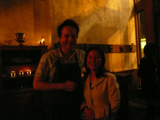 Gracious host, owner of Camino Restaurant, Russell Moore (and me)