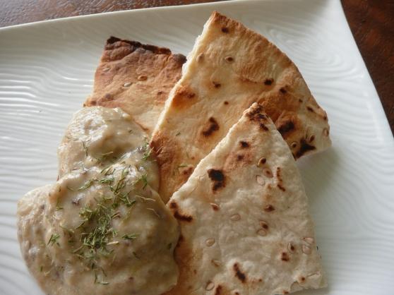 eggplant dip and pita