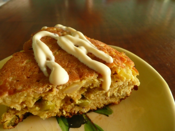 Samosa omelette with mayonnaise